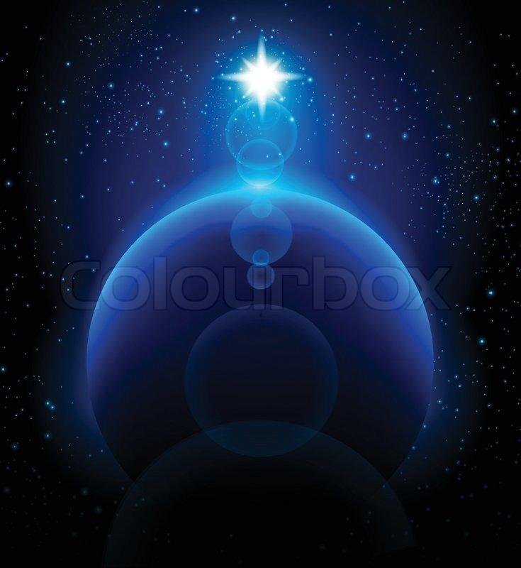 Weltraum hintergrund und blauen planeten vektor for Dekor weltraum