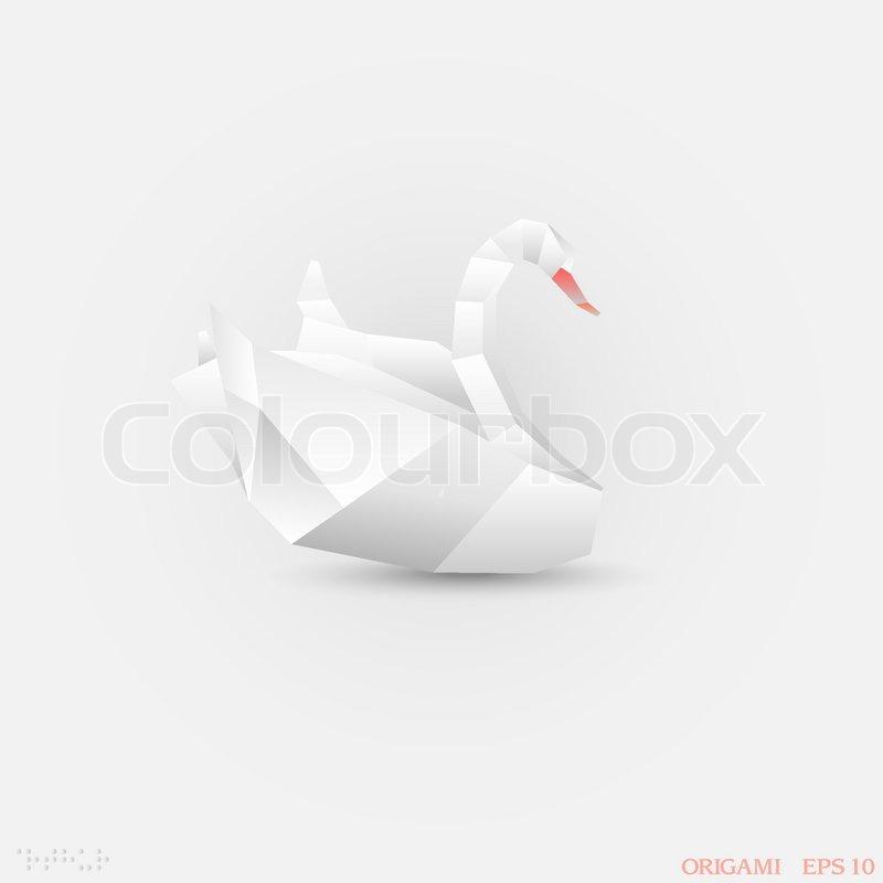Origami Swan Stock Vector Colourbox