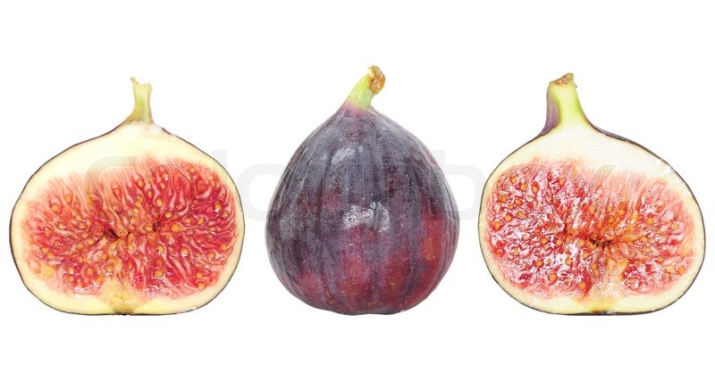 fresh fig fruit and fig halves isolated on white stock photo colourbox. Black Bedroom Furniture Sets. Home Design Ideas