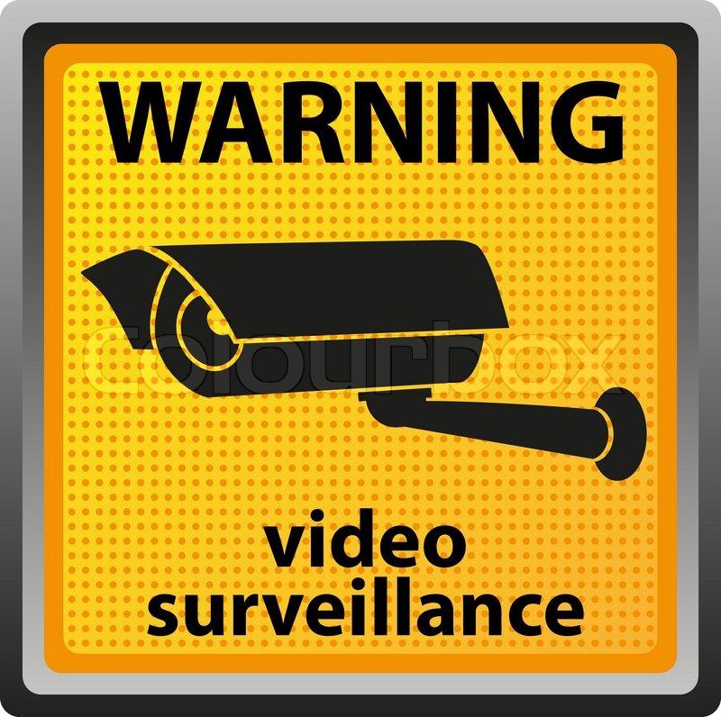 Sign Warning Of Surveillance Camera Stock Vector Colourbox