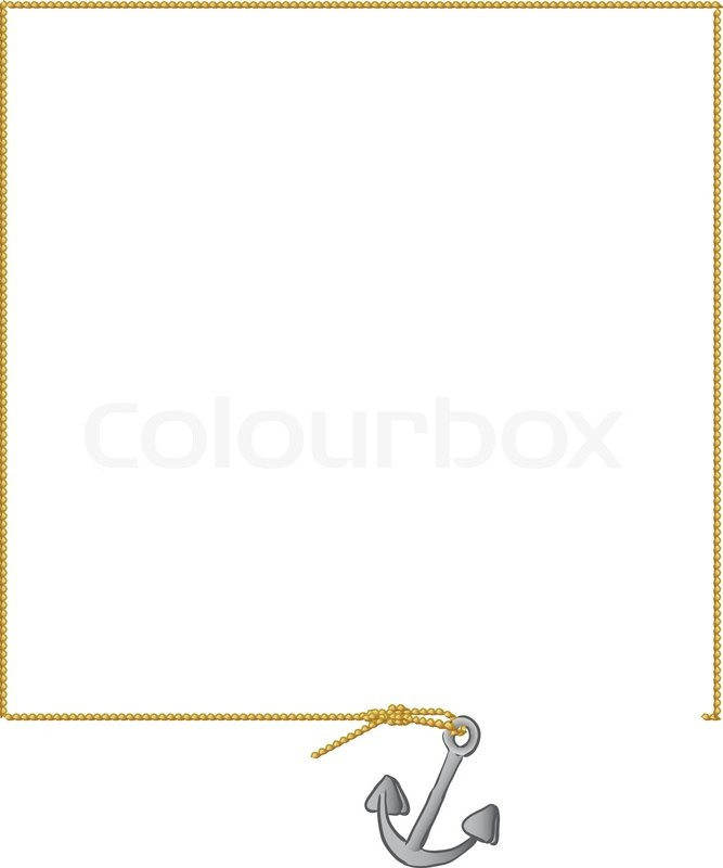 Nautical Rope Border Vector Stock marker been rope circle surround ...