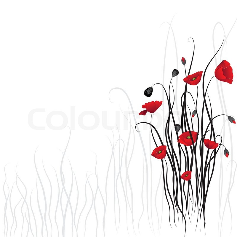 poppy background stock vector colourbox