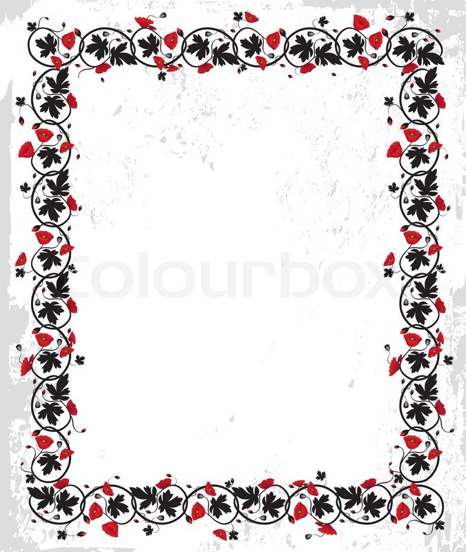 Frame Design Flower Vector
