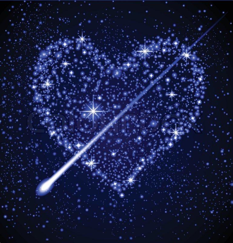 Weltraum hintergrund sterne herzen nachthimmel for Dekor weltraum