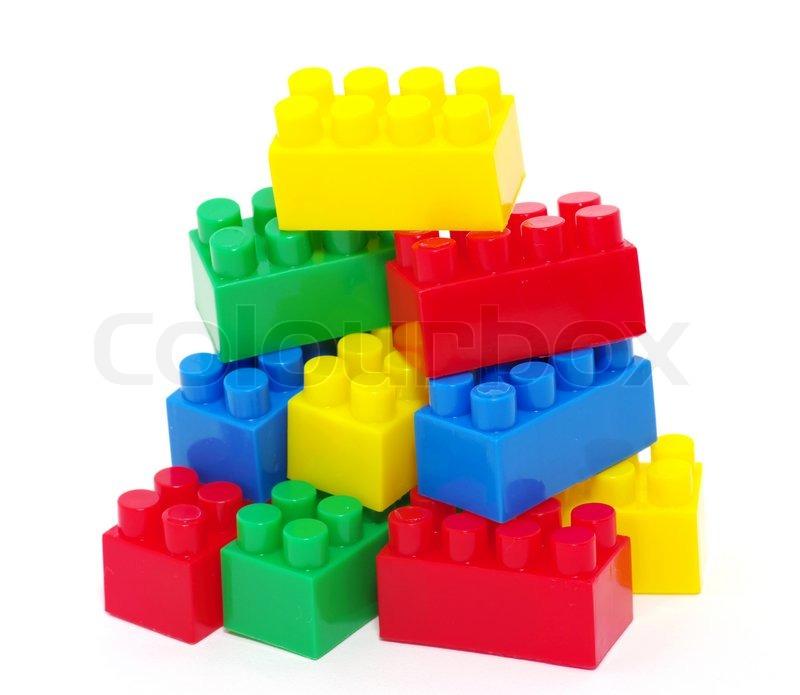 Plastic Toy Blocks Stock Photo Colourbox