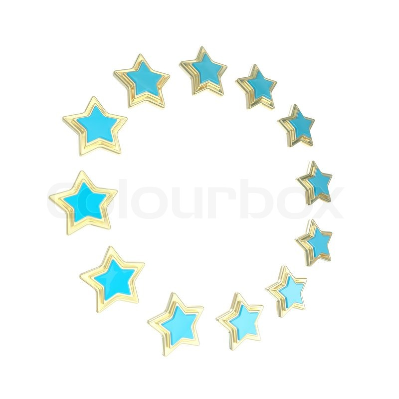 circle star frame emblem isolated stock photo