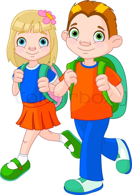 back to school stock vector colourbox rh colourbox com going to school clipart images child going to school clipart