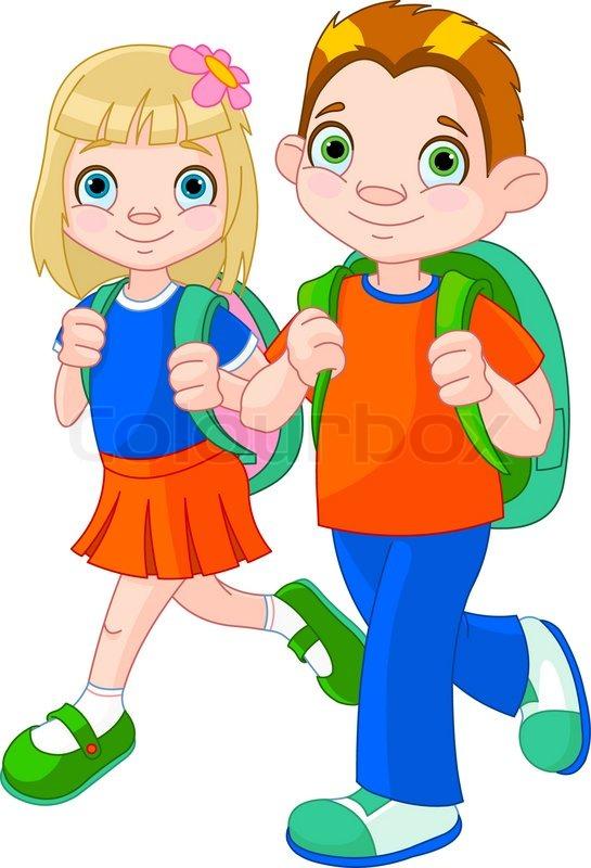 Back to school stock vector colourbox for Boden cartoon