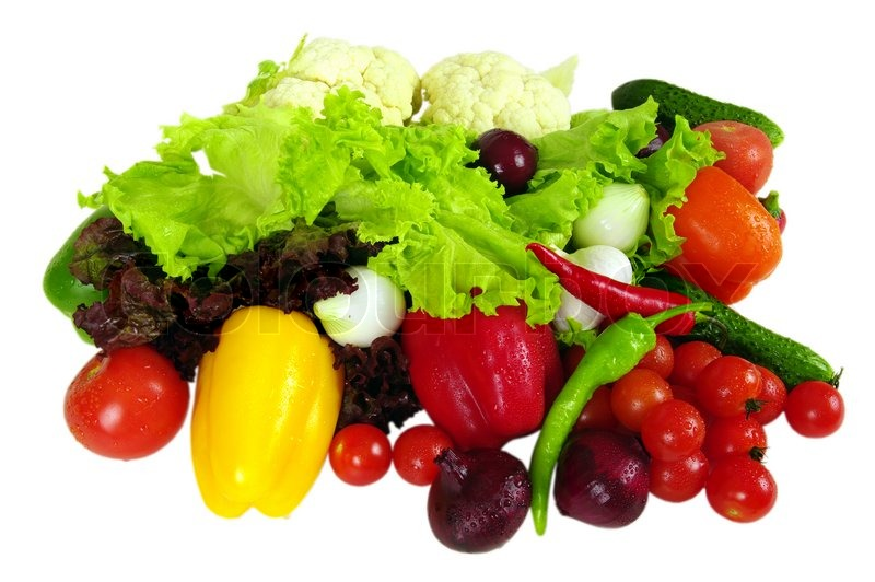 Stock image of 'Vegetables for the salads, bought in the rural market'