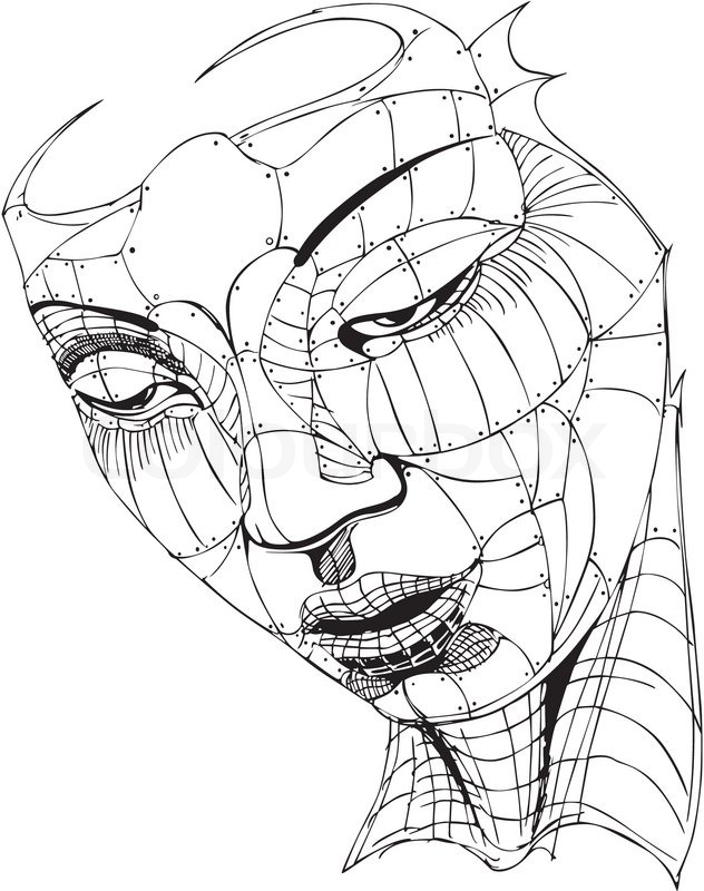 Wireframe Woman Face | Stock Vector | Colourbox