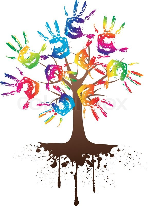 Clip Art Handprint Tree