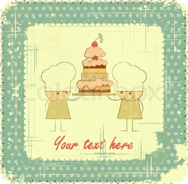 Vintage Menu Card Designs With Chefs In Retro Style Kids Menu
