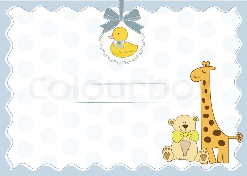 Baby Shower Invitation Vector Colourbox