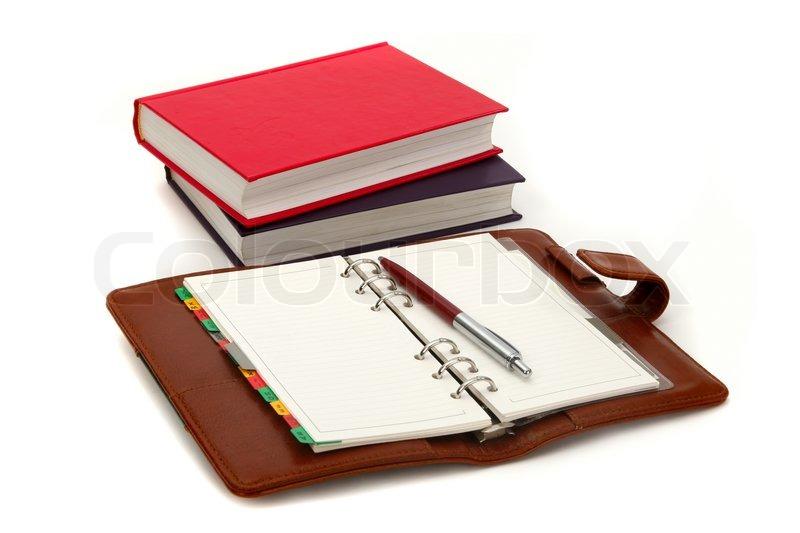 Open Agenda, Pen And Books