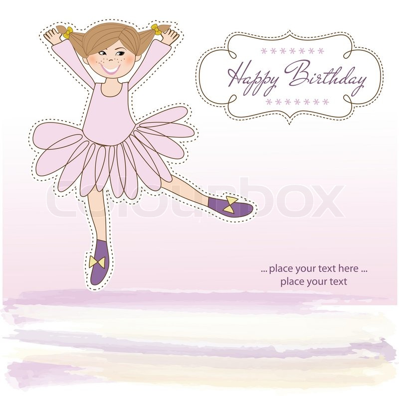 Sweet girl birthday greeting card stock vector colourbox stock vector of sweet girl birthday greeting card bookmarktalkfo Choice Image