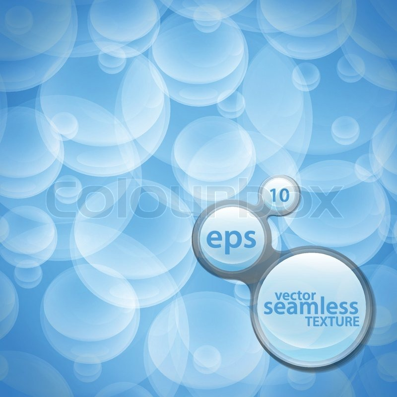 Seamless Vector Pattern Background Texture Made Of Under Water Bubbles