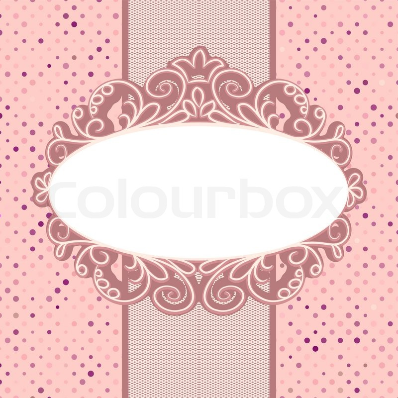 vintage card template with copy space eps 8 stock vector colourbox