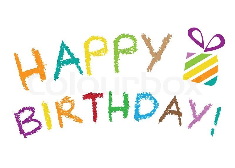 Happy Birthday Stock Vector Colourbox
