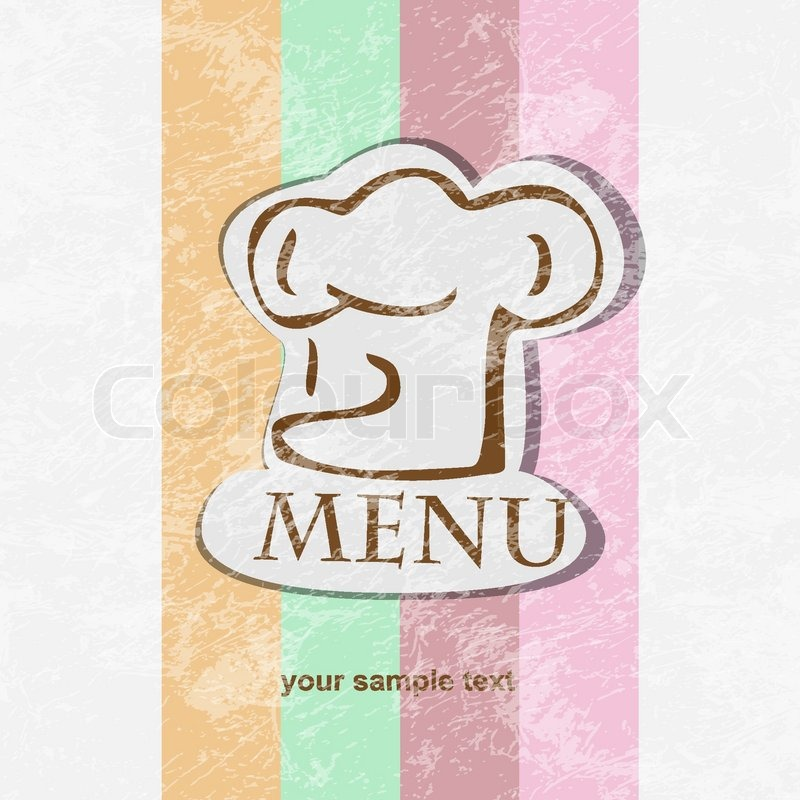 restaurant menu design retro poster stock vector colourbox