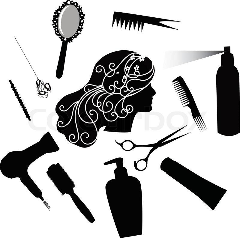 quot fashionable hairdress the hairdresser the hair dryer a June Hummingbird Flowers Clip Art June Calendar Clip Art