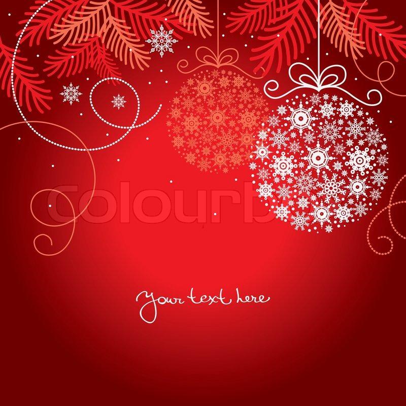 Elegant Christmas Background Stock Vector Colourbox