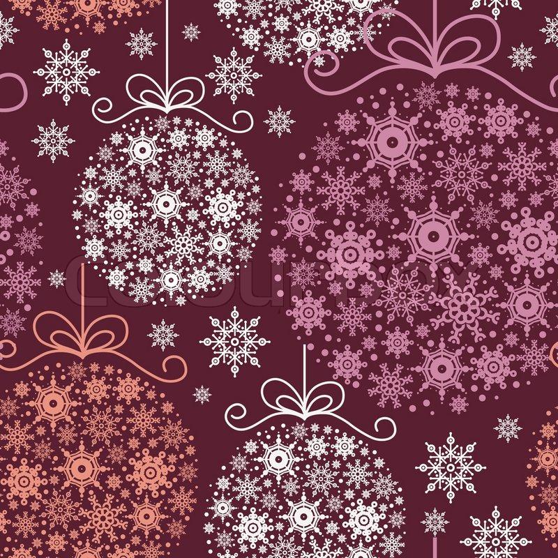 wei e kugeln auf rotem weihnachts hintergrund. Black Bedroom Furniture Sets. Home Design Ideas