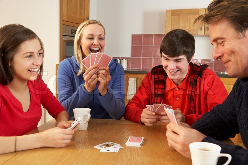 Image result for people playing cards