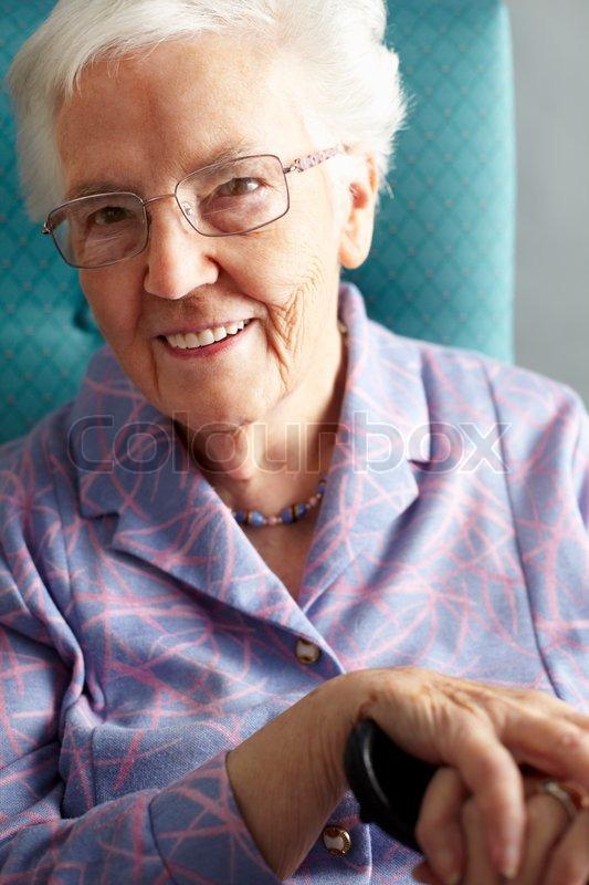 Stock foto af smilende gamle ældre