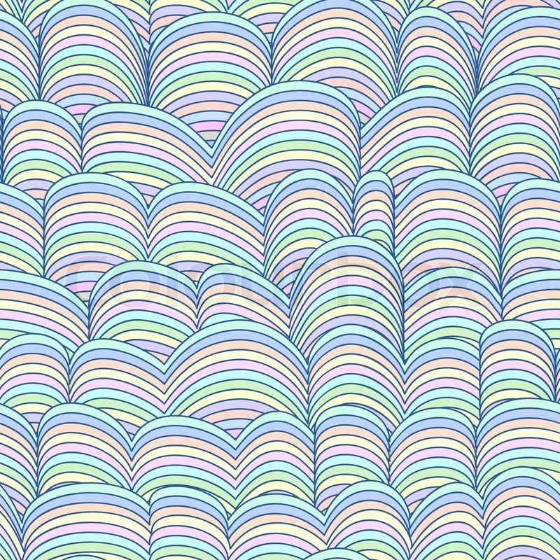 Colorful Seamless Abstract Hand Drawn Pattern Waves Background Background Colors For Web Pages