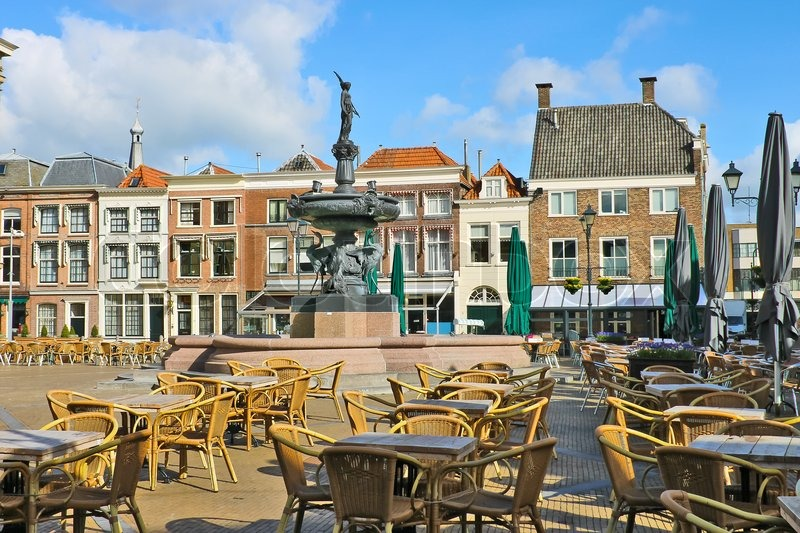 Gorinchem Netherlands  City pictures : ... near the fountain in Gorinchem Netherlands | Stock Photo | Colourbox
