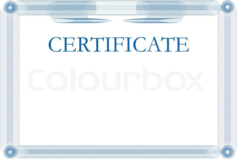Certificate Template Stock Vector Colourbox