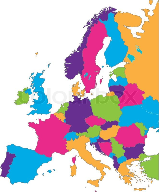Europe map stock vector colourbox europe map vector gumiabroncs Choice Image