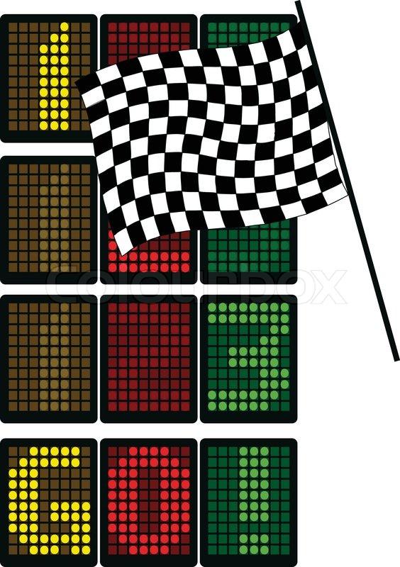 formel 1 tabelle stock vektor colourbox. Black Bedroom Furniture Sets. Home Design Ideas