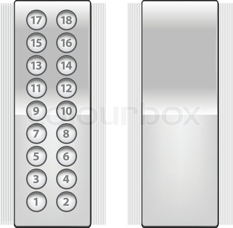 Elevator Buttons Stock Vector Colourbox