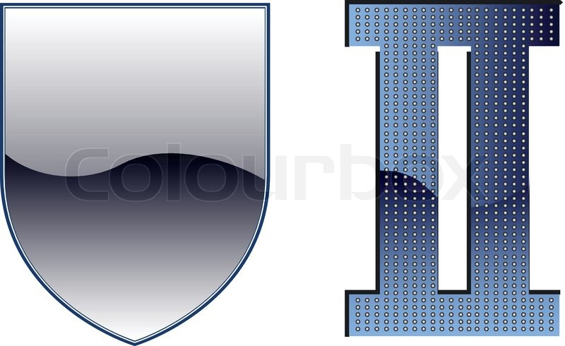 Schild - WWII Wappen Vorlage | Vektorgrafik | Colourbox