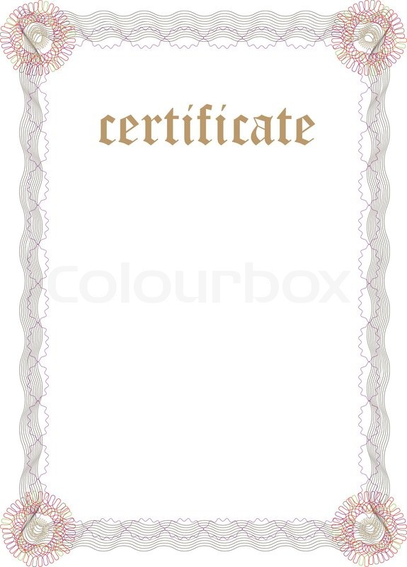 Certificate Template - Fill & Print Series | Stock Vector ...
