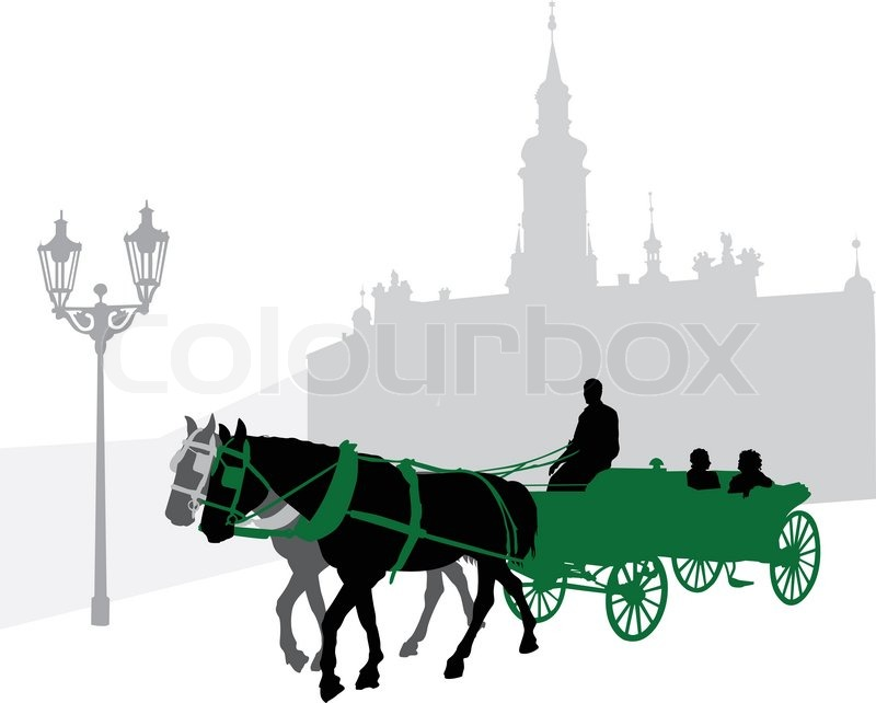 Horse Carriage Silhouette Silhouette of a Carriage With