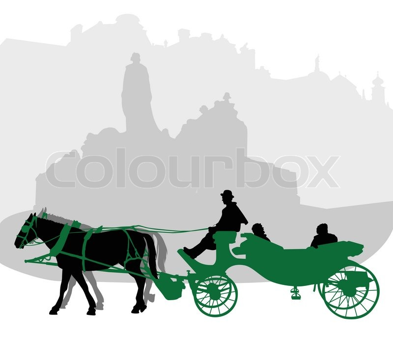 Horse Carriage Silhouette Silhouette of a Carriage in