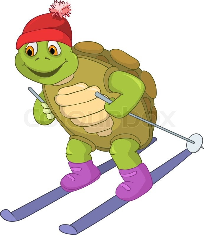 funny turtle skiing stock vector colourbox ski clip art for color skier clipart black and white