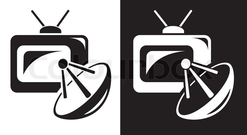 Satellite TV icon, vector