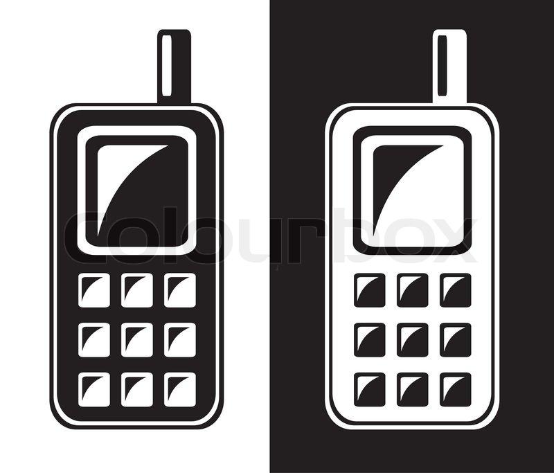 Mobile Phone Icon Stock Vector Colourbox