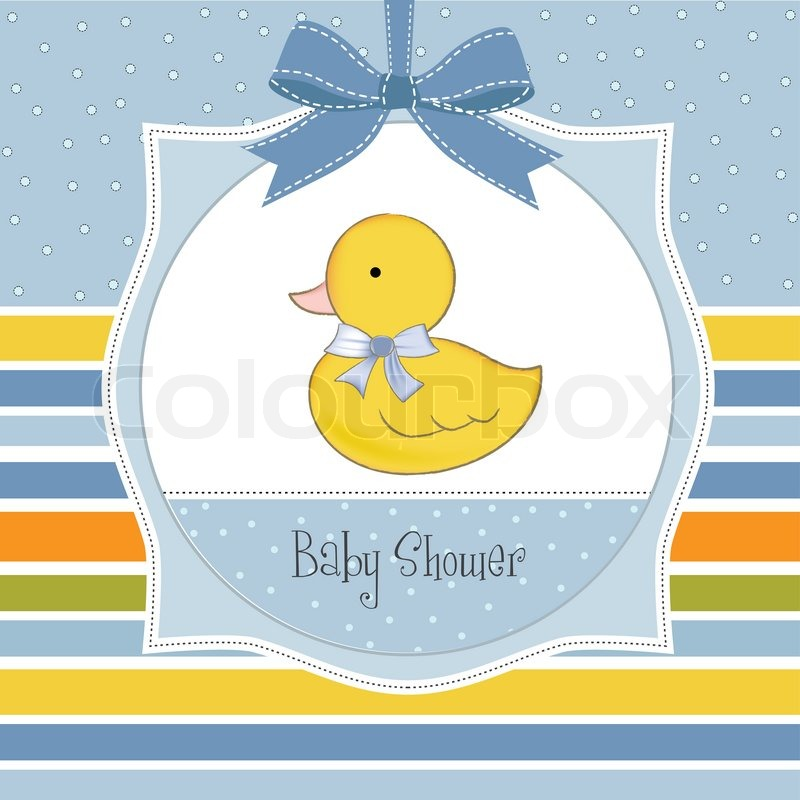 Baby shower invitation with duck stock vector colourbox stopboris Image collections
