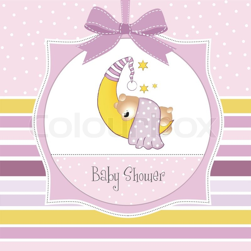 Baby shower invitation with teddy bear stock vector colourbox stopboris Image collections