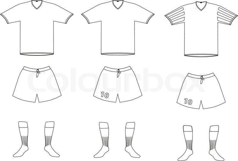 Vector Soccer Player Uniform