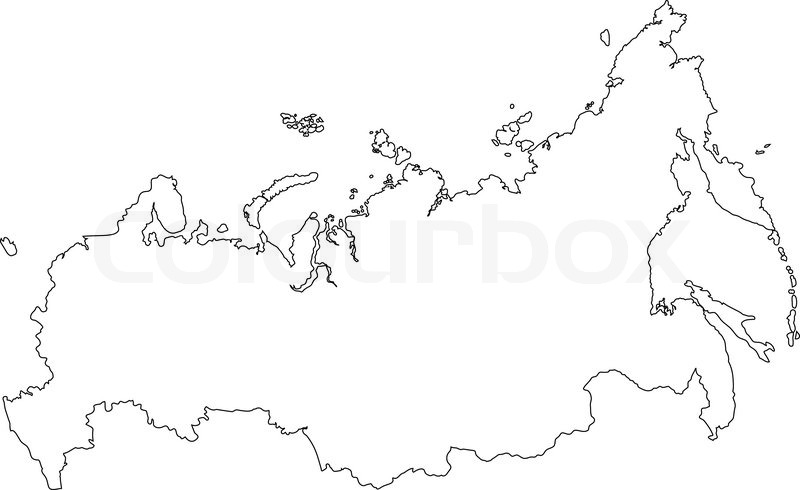 Map Of Russia Stock Vector Colourbox