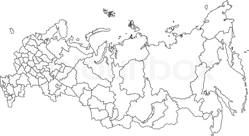 Map of Russia | Stock Vector | Colourbox