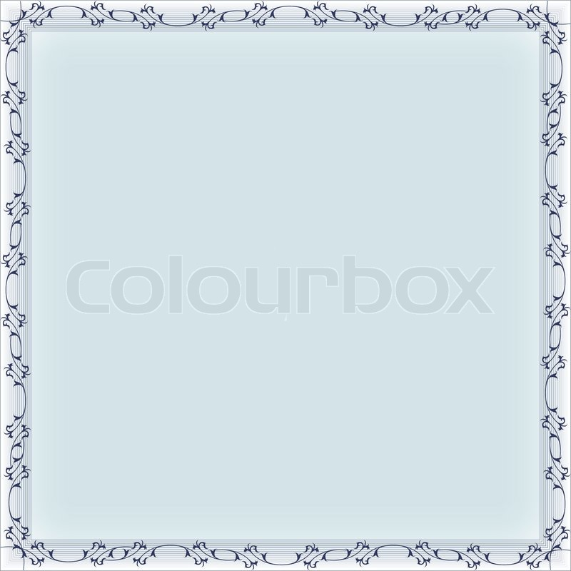 Blank frame banner template | Stock Vector | Colourbox