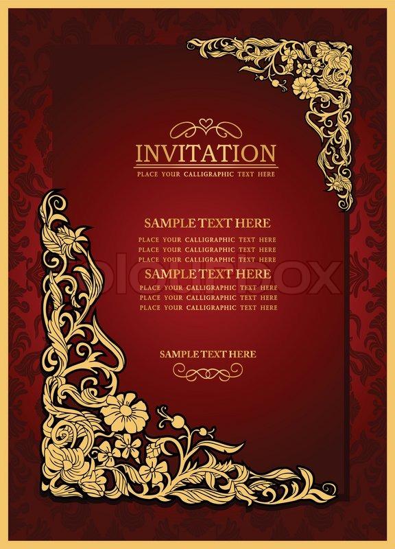 Invitation Antik Brochure Stock Vektor Colourbox