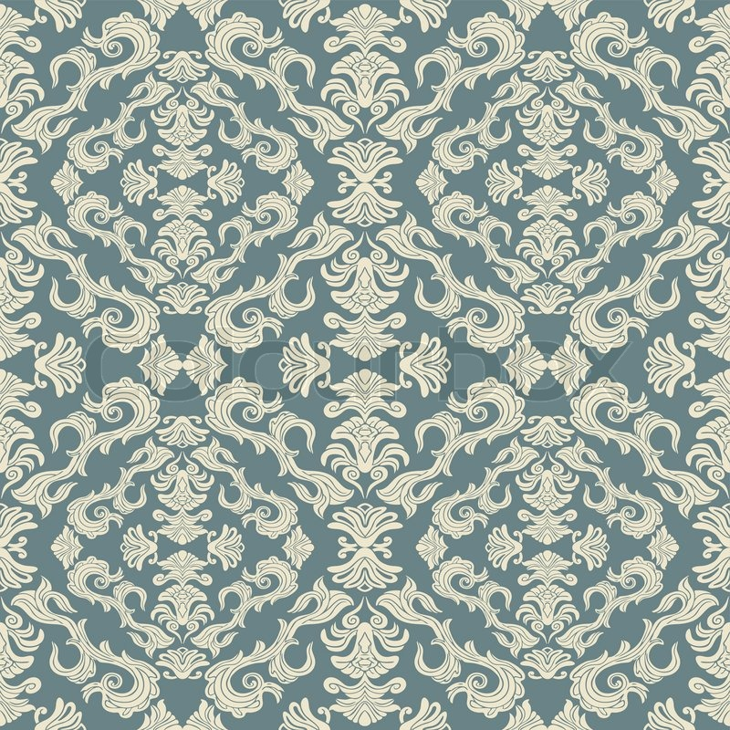 Abstract background royal damask ornament classic for Fashion fabrics