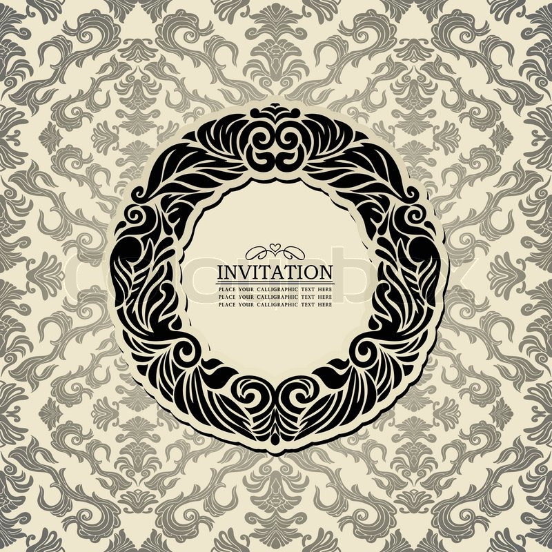 Abstract Background With Black Vintage Frame Old Style
